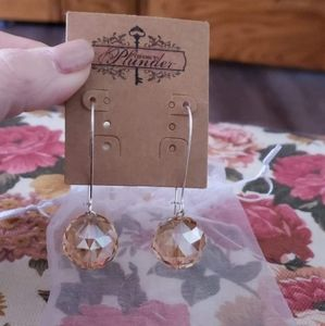 Rosegold ball drop earrings